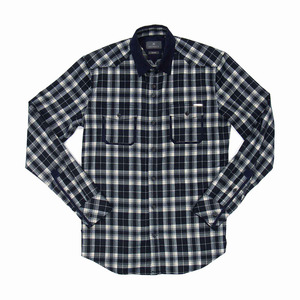 Blue Grizzly Brushed Checked Flannel Shirt