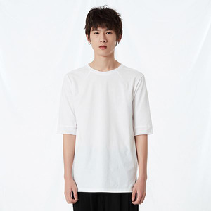 RELAXED COTTON MID-SLEEVE WHITE