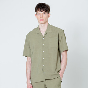 OPEN COLLOR 1/2 SHIRTS - KHAKI