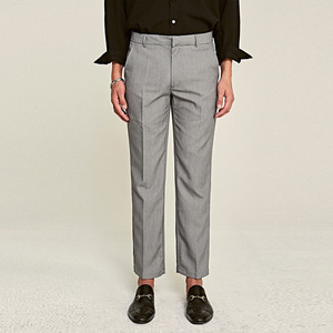 STAND STRAIGHT-FIT SLACKS_CHARCOAL