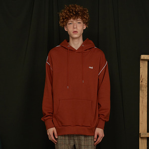 [UMM] ANDY PIPING HOODIE / BROWN