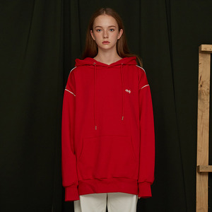 [UMM] ANDY PIPING HOODIE / RED