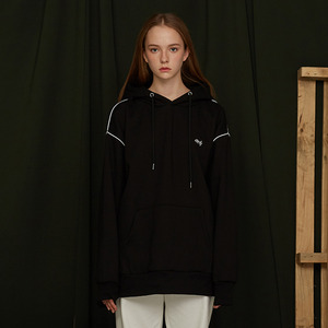 [UMM] ANDY PIPING HOODIE / BLACK