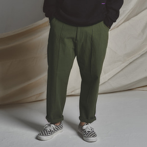 STG Pintuck Wide Pants _ KHAKI