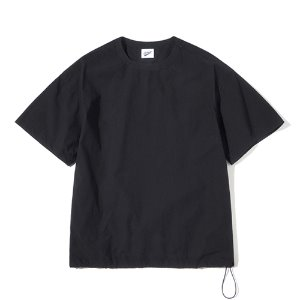 Pullover String Tee Black