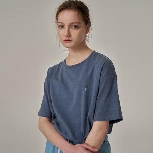 LE PIGMENT WASHING T-SHIRTS DEEP BLUE