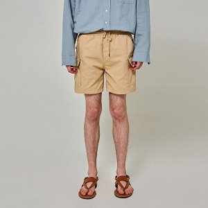 [얀13] COTTON POCKET SHORTS_BEIGE