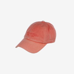 [얀13] SIGNATURE PIGMENT DYE BALL CAP_ORANGE