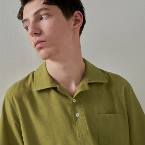 COLOR LINEN PK SHIRTS YELLOW GREEN