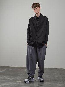 19FW OVERSIZE BELTED PANTS [GREY]