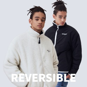 (양면)REVERSIBLE HIGH NECK FLEECE JACKET [IVORY]