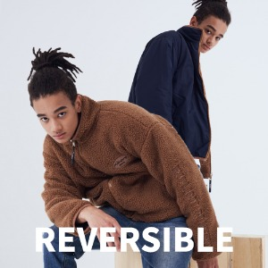 (양면)REVERSIBLE HIGH NECK FLEECE JACKET [BROWN]