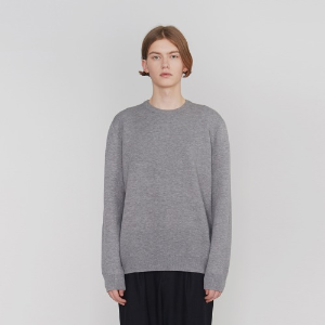 Double Weave Round Knit_Grey