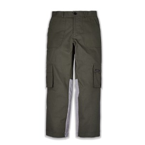 DOUBLE COTTON PANTS_KHAKIGRAY
