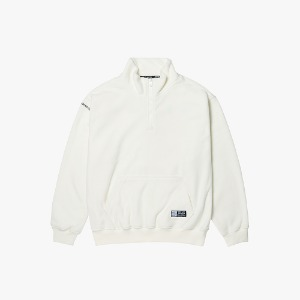 FLEECE HALF ZIP PULLOVER [OFF WHITE]