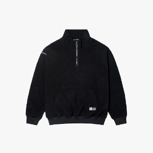 FLEECE HALF ZIP PULLOVER [BLACK]