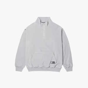 FLEECE HALF ZIP PULLOVER [GRAY]