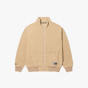 FLEECE ZIP-UP JACKET [BEIGE]
