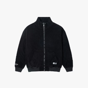 FLEECE ZIP-UP JACKET [BLACK]
