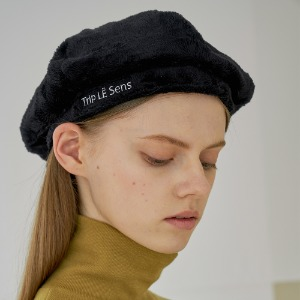 [트립르센스] LE ECO-FUR NEWSBOY CAP_BLACK