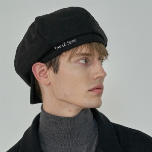 [트립르센스] LE WOOL NEWSBOY CAP_BLACK