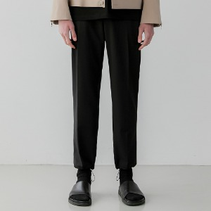 Draw String Wide Fit Slacks_Black