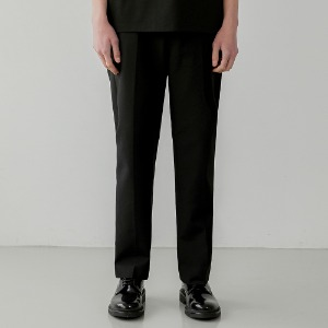 Fine Cotton Straight Fit Slacks_Black