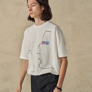 Unisex Face Drawing Graphic T-Shirts_White